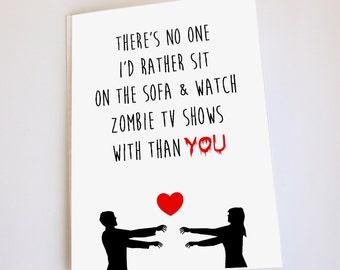 Zombie card, Valentine's Day, Anniversary, Birthday, Funny