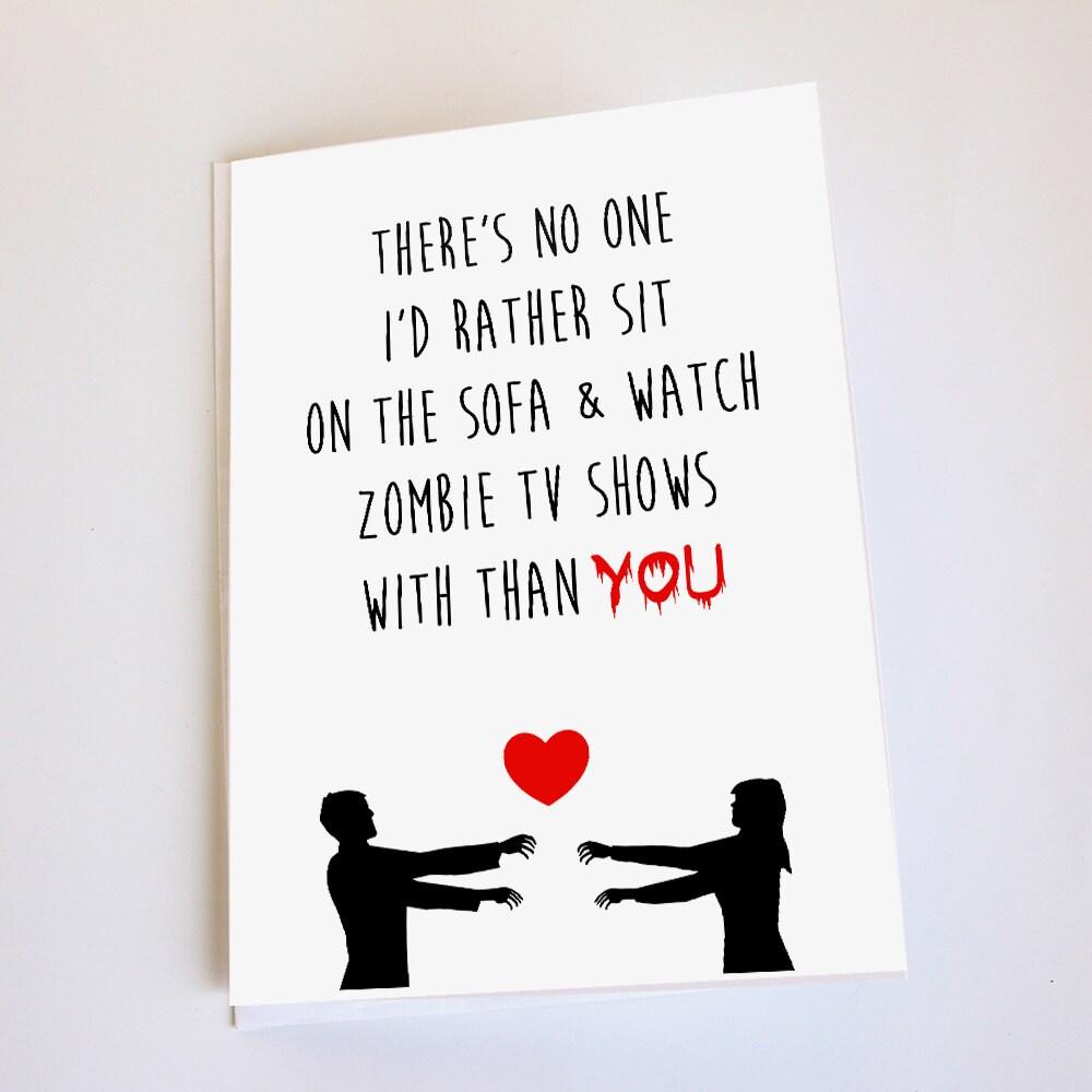 Zombie card valentines day anniversary birthday funny zoom kristyandbryce Choice Image