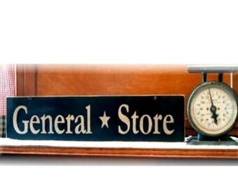 General Store primitive wood sign