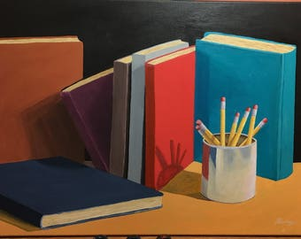 Books painting