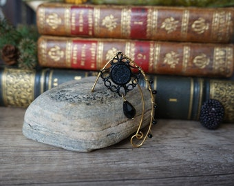 "Elf ears ""Black fairy-gold"""