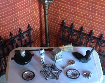 Haunting  Miniature Witch Altar Accessories