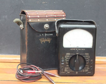 Vintage Triplett Ohm Meter Model 630 with Case - Volt Ohm Meter - VOM Electric Current Tester - Great Guy Gift!