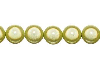 10 x magic round 8mm - yellow beads