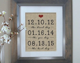 Wedding Gifts for Couple, The First Day The Yes Day The Best Day, Wedding Gift, Bridal Shower Gift for Husband Gift for Bride and Groom gift
