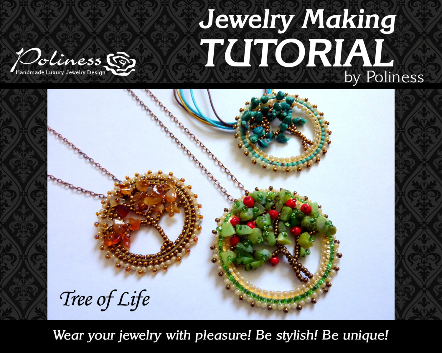 Step by Step Tutorial Jewelry making Beaded Pendant