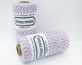 Purple Divine Twine, Plum Divine Twine, Full spool, 240 yards, Purple Cotton String, Purple Bakers Twine, Purple Cotton Twine, Craft String