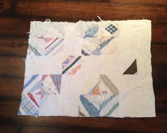 Vintage 1950's Era PATCHWORK STRING Pattern Cutter Quilt Pieces
