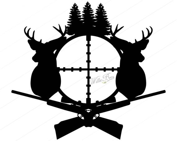 deer hunting svg silhouette clipart gone hunting deer rh etsy com hunting clipart black and white hunting clipart images