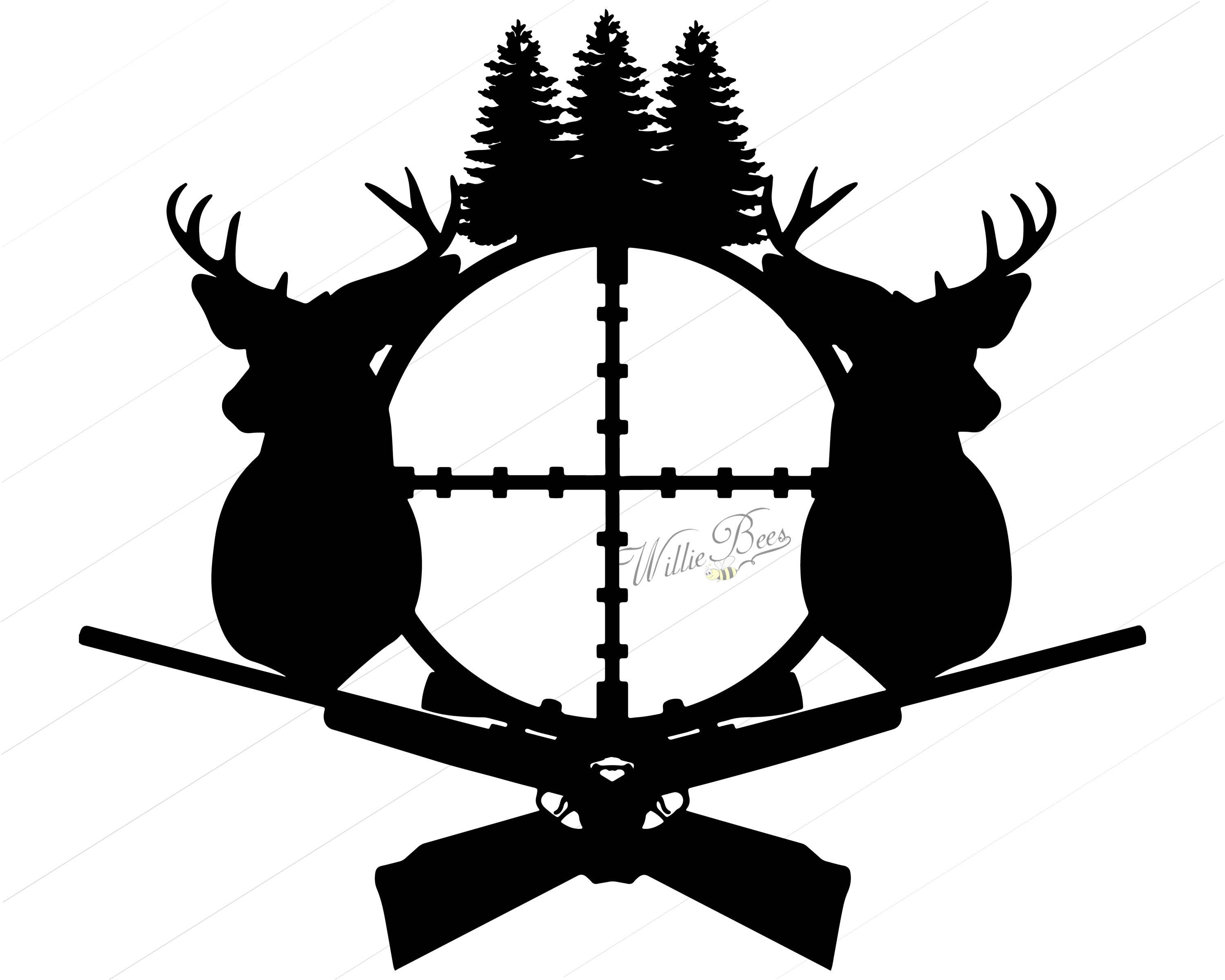 deer hunting svg silhouette clipart gone hunting deer rh etsy com deer hunting clipart deer hunting clip art free