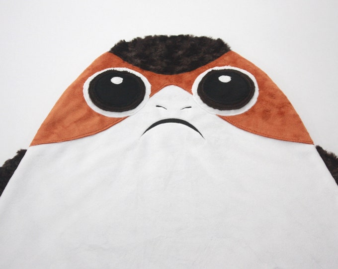 Star Wars baby blanket--Porg security blanket--Porg baby blanket