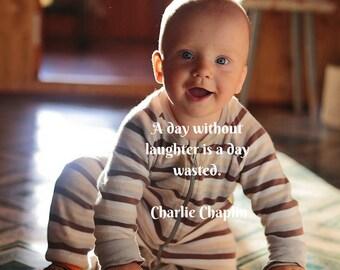 Printable Charlie Chaplin Baby Poster