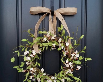 CHERRY BLOSSOMS, Cherry Blossom Wreath, Pink Flower Wreath, Berry Wreaths, Cherry Trees,  Blossoming Cherry Trees, Spring Blossom Wreath