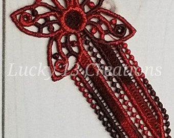 Butterfly Freestanding Lace Bookmark - Multi-Color Variegated - READY TO SHIP