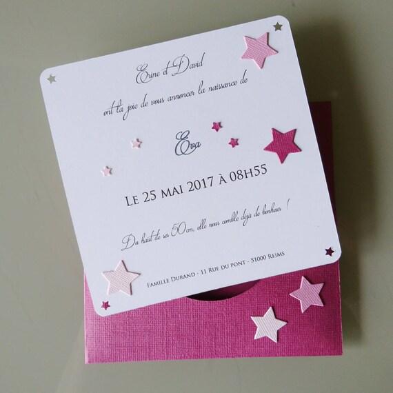 Favori Faire-part naissance fille Carte de Félicitation Chouette AH87