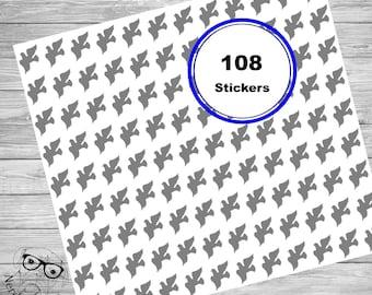 Dove Stickers, 108 Stickers, Dove Sticker Set, Dove Envelope Seals, Wedding Decorations, Christmas Party Decorations, Dove Planner Stickers
