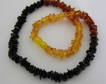 Baltic Amber Adult Necklace - Rainbow Colored