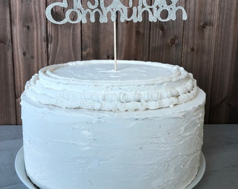 First Communion cake topper - First Holy Communion Cake Topper - Holy Communion Cake Topper - 1st Communion Cake Topper - glitter topper