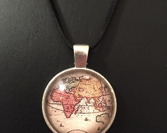 Old map necklace etsy old world map necklace gumiabroncs Gallery