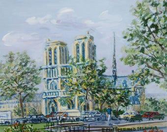 Notre-Dame de Paris - Peinture à l'acrylique