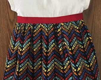 Bright Crayon T-Shirt Dress