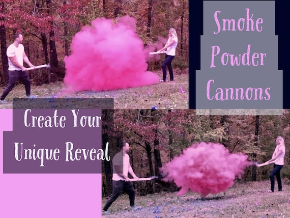 "12"" 16"" 24"" SMOKE POWDER CANNON ™  Ships Same Day Gender Reveal Smoke Powder Cannons! New Gender Reveal Idea!"