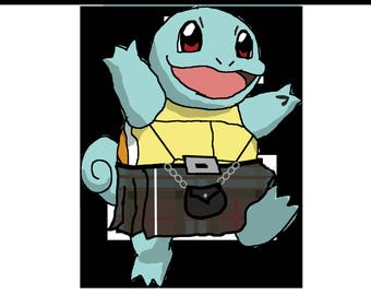 Squirtle - in a kilt!