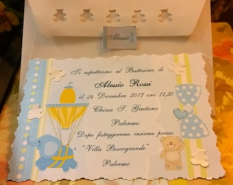 Baptism Invitation with Envelope