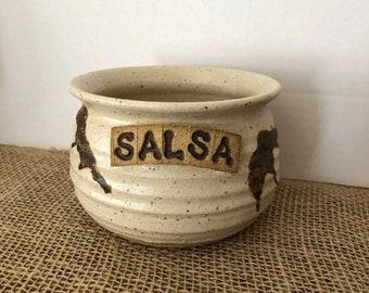 Vintage Salsa bowl- stoneware handmade