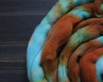 Vintage Kelp 100g Merio Wool Roving Braid