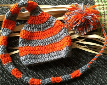 Halloween Baby Hat.  Halloween newborn picture ideas, crochet orange fall hat, fall baby hat, newborn photography ideas