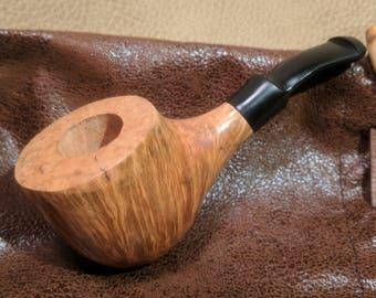 Handmade Bent Nose Warmer Briar Tobacco Pipe