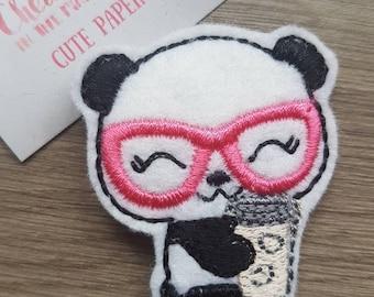 Coffee Latte Geek Nerd Glasses Panda Paper Clip