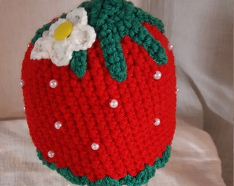 Red Strawberry Cap-Child Size