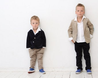 Boys blazer Wedding party Baptism Ring bearer suit Corduroy jacket with elbow patches Boys clothes Ring bearer blazer Toddler boy blazer