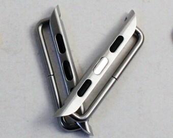 Apple Watch Bar Adapter Anlagen für den Einsatz mit austauschbaren Uhrenarmbänder, 42mm, 38mm, Silber, Gold, schwarz, Rose Gold