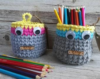 Set of two baskets crochet