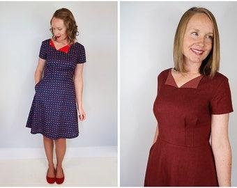 The Laneway A Line 40s style Dress Women's PDF Sewing Pattern Size 6 to 24