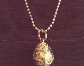 Vintage Faberge Egg Locket Pendant