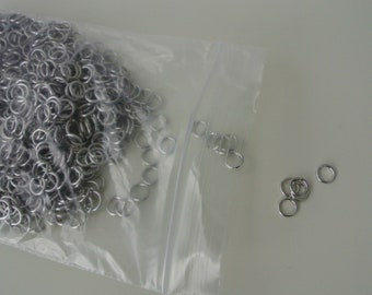 Aluminum Jump Rings / Non Tarnish / Bag Full / 6mm 20 gauge
