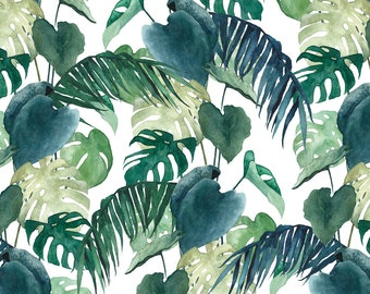 Postcard Botanical Leaves, Illustrated Postcard, Watercolor