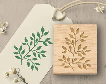 Botanical Plant Rubber Stamp, Leaf Stamp, Plant Stamp, Card Making Stamp, Garden Stamp, Leaf Rubber Stamp, Greenery Stamp 052
