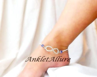 Ankle Bracelet Infinity Anklet Rhinestone Anklet COLORS GUARANTEE Anklet for Women