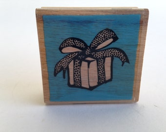 Present - Gift Wrap - Birthday Vintage Rubber Stamp - Card Making - Crafts ~ 161012B