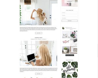 "WordPress Theme // Genesis Child Theme // ""Scarlett"""