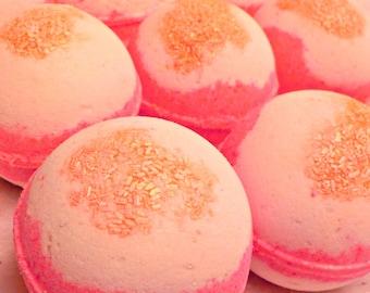 Pink Sugar Kiss - Bubblin' Bath Bomb Fizzy, handmade with Avocado Oil, Soothing Suds Bath & Body