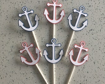 Anchor Cupcake Toppers Set of 12