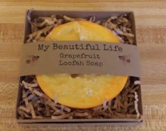 Goat Milk Loofah Soap
