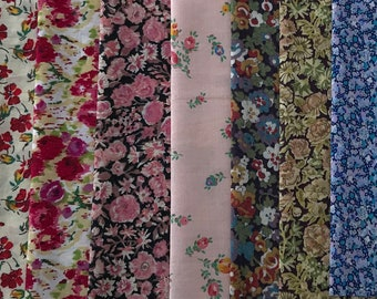 """Liberty Fabric Charm Squares - Selection of  10 Squares 5"""" x 5"""" (#170)"""