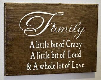 Family Canvas Sign